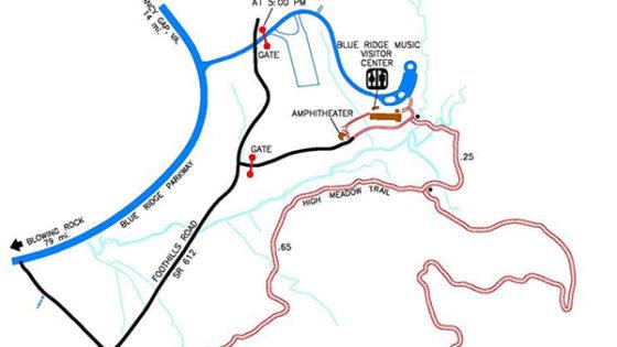 Blue Ridge Music Center map
