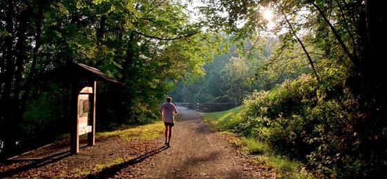 Runner on New River Trail