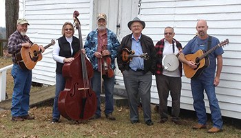 Sugarloaf Mountain Band smiling with their instruments