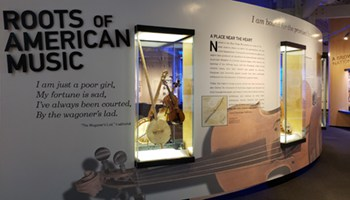 Title panel from the Roots of American Music exhibition